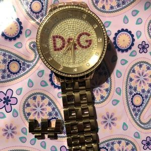 Dolce and Gabanna gold watch